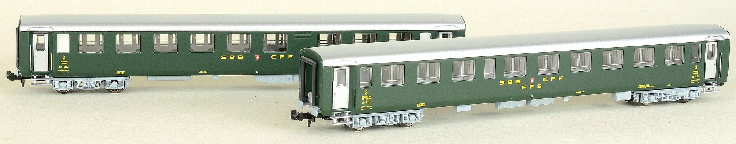 MW-Modell N-CH-211b SBB Liegewagen-Set 2-tlg Ep.4